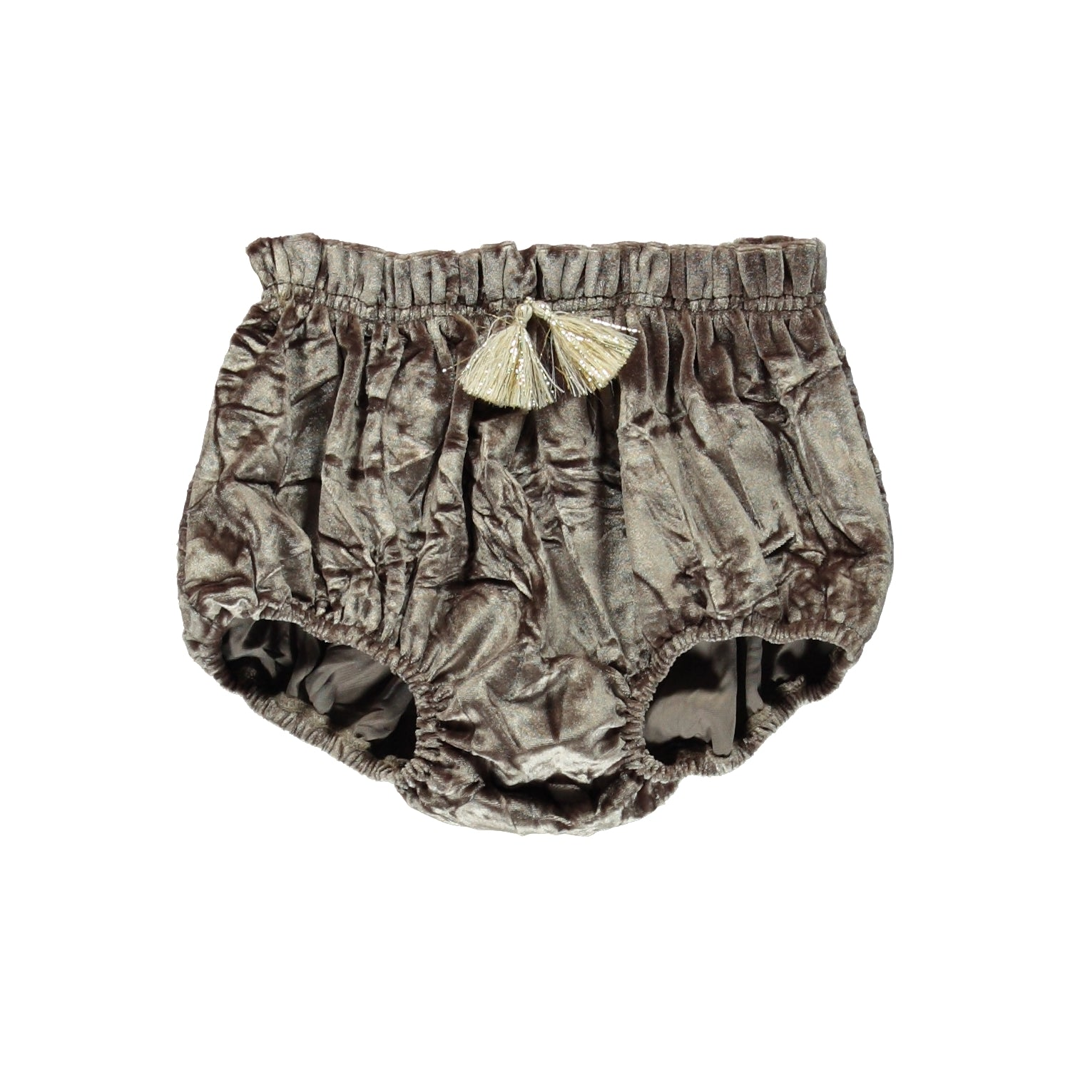 Load image into Gallery viewer, Coco Au Lait BROWN VELVET CULOTTE Culotte Golden Brown