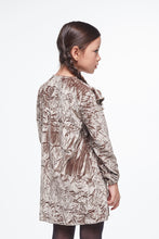 Load image into Gallery viewer, Coco Au Lait BROWN VELVET DRESS Dress Golden Brown