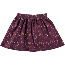Load image into Gallery viewer, Coco Au Lait BURGUNDY PRINTED SKIRT Skirt Prune Purple