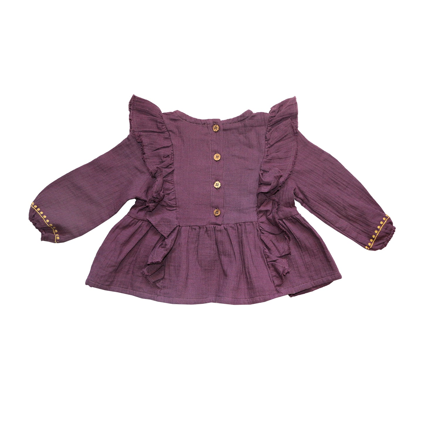 Load image into Gallery viewer, Coco Au Lait BURGUNDY EMROIDERED BLOUSE Blouse Prune Purple