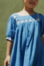 Load image into Gallery viewer, Coco Au Lait Blue Tarahumara Tunic Dress Dress Diva Blue