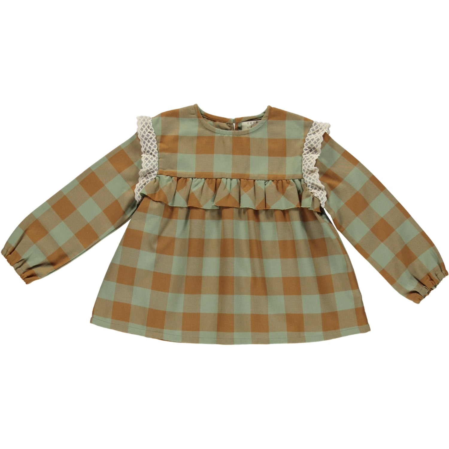 Load image into Gallery viewer, Coco Au Lait CHECKERED BLOUSE Blouse Multicolor Squares