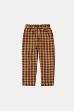 Load image into Gallery viewer, Coco Au Lait Checkered Yellow And Burgundy Trousers Trousers Multicolor Squares Yellow