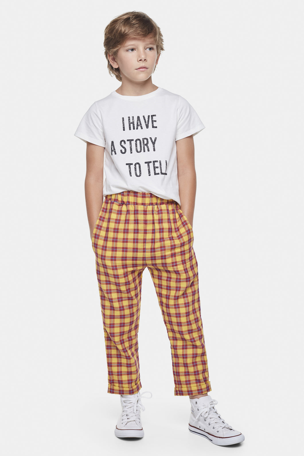 Coco Au Lait Checkered Yellow And Burgundy Trousers Trousers Multicolor Squares Yellow