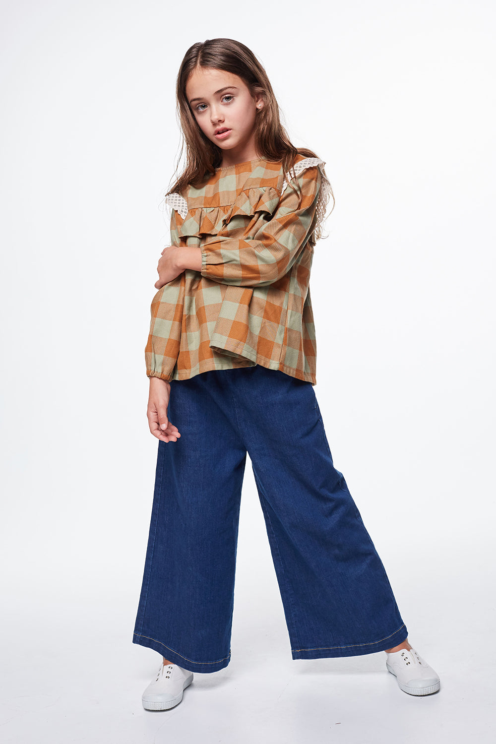 Load image into Gallery viewer, Coco Au Lait DENIM TROUSERS Trousers Denim Blue