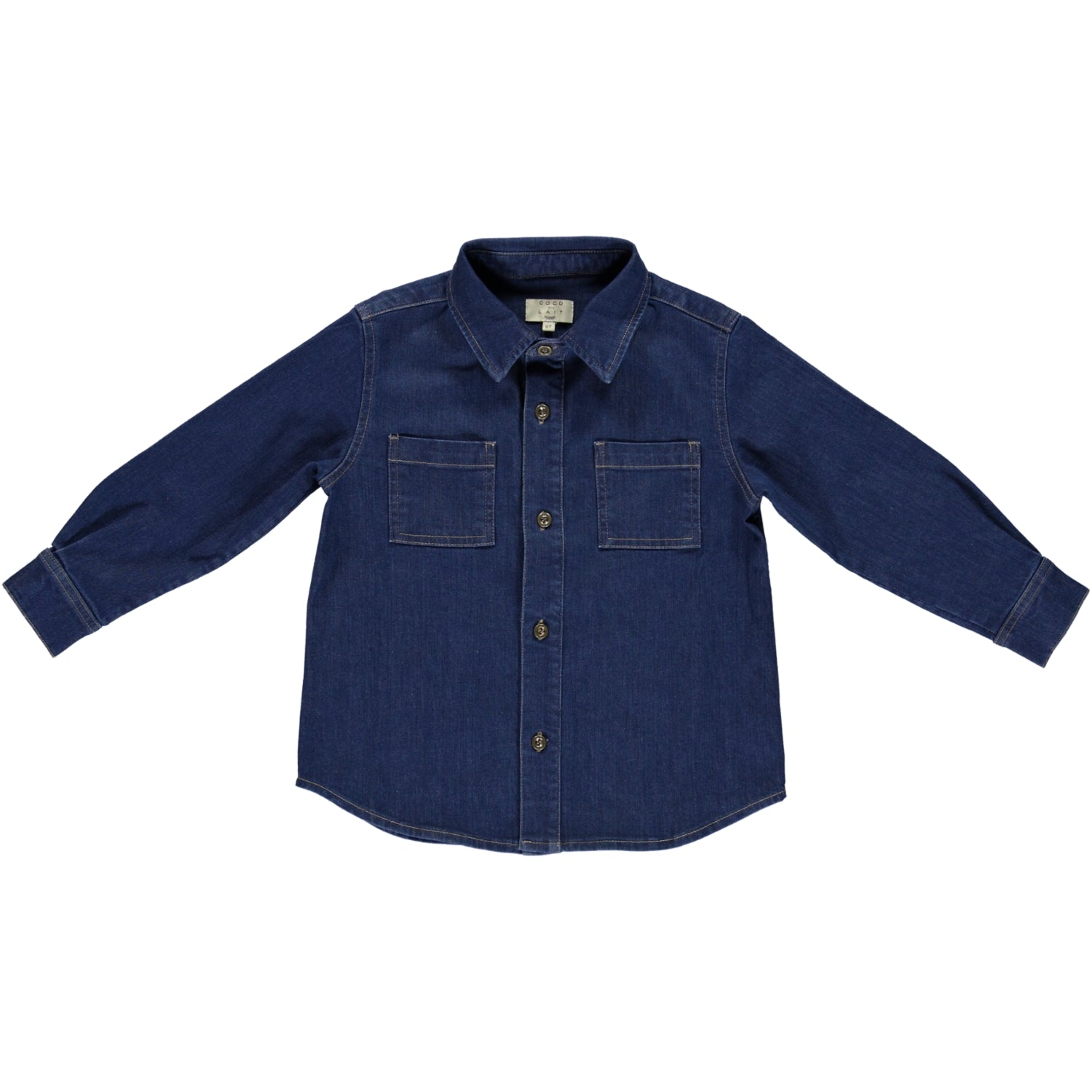 Load image into Gallery viewer, Coco Au Lait DENIM SHIRT Shirt Denim Blue