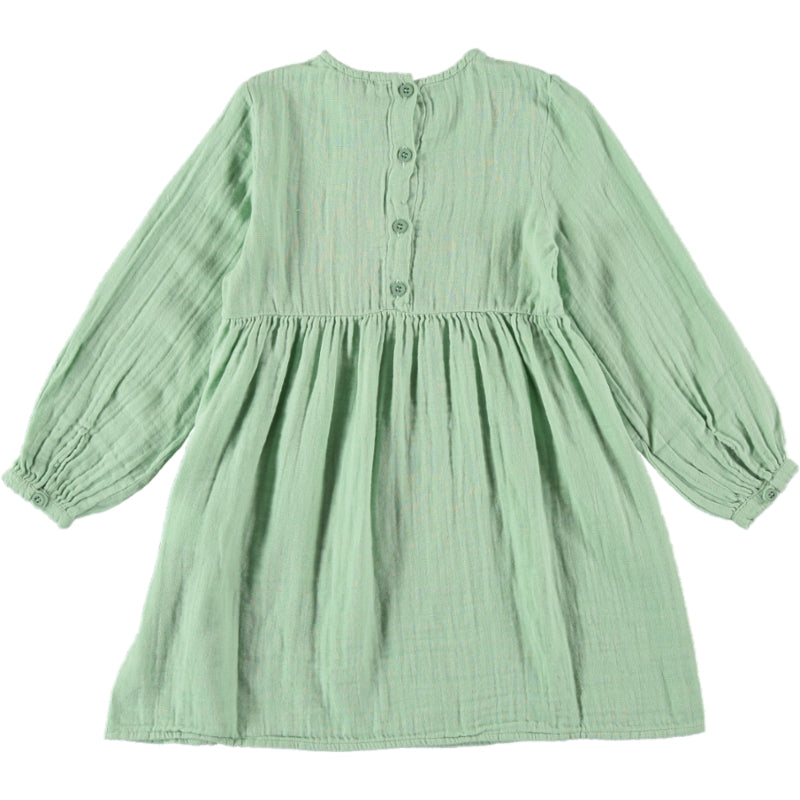 Load image into Gallery viewer, Coco Au Lait GREEN BAMBULA DRESS Dress Granite Green