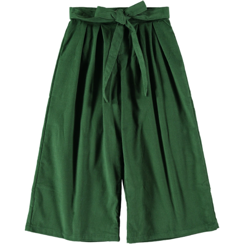 Coco Au Lait GREEN CORDUROY TROUSERS Trousers Greener Pastures