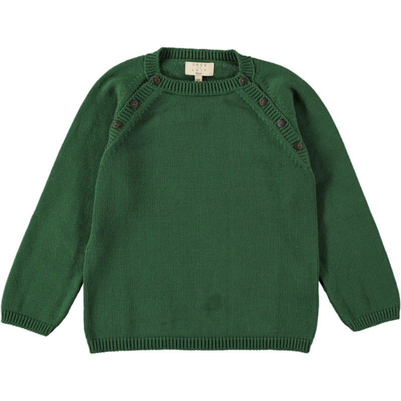 Coco Au Lait GREEN KNIT SWEATER Sweater Greener Pastures