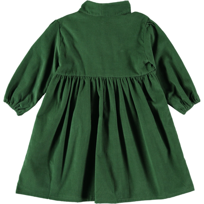 Load image into Gallery viewer, Coco Au Lait GREEN VELVETEEN DRESS Dress Greener Pastures