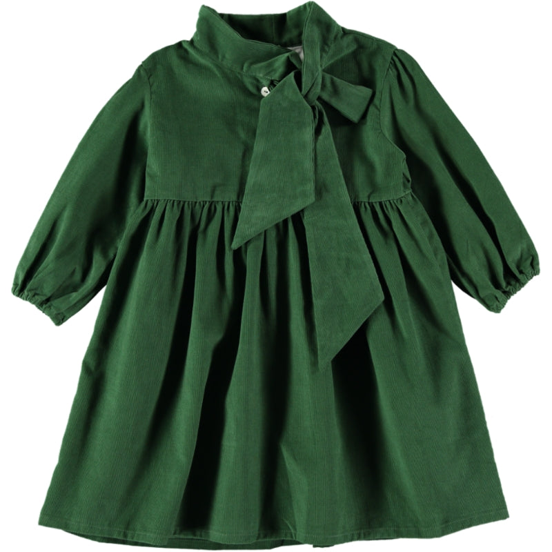 Coco Au Lait GREEN VELVETEEN DRESS Dress Greener Pastures