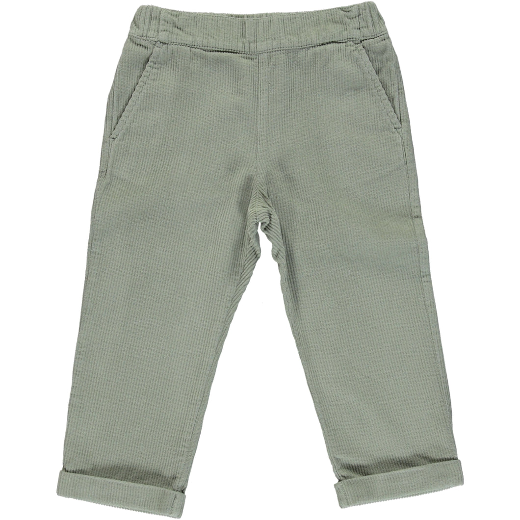 Coco Au Lait GREEN CORDUROY TROUSERS Trousers Mineral Green