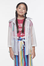 Load image into Gallery viewer, Coco Au Lait I Have A Story To Tell Rain Coat Raincoat Transparent
