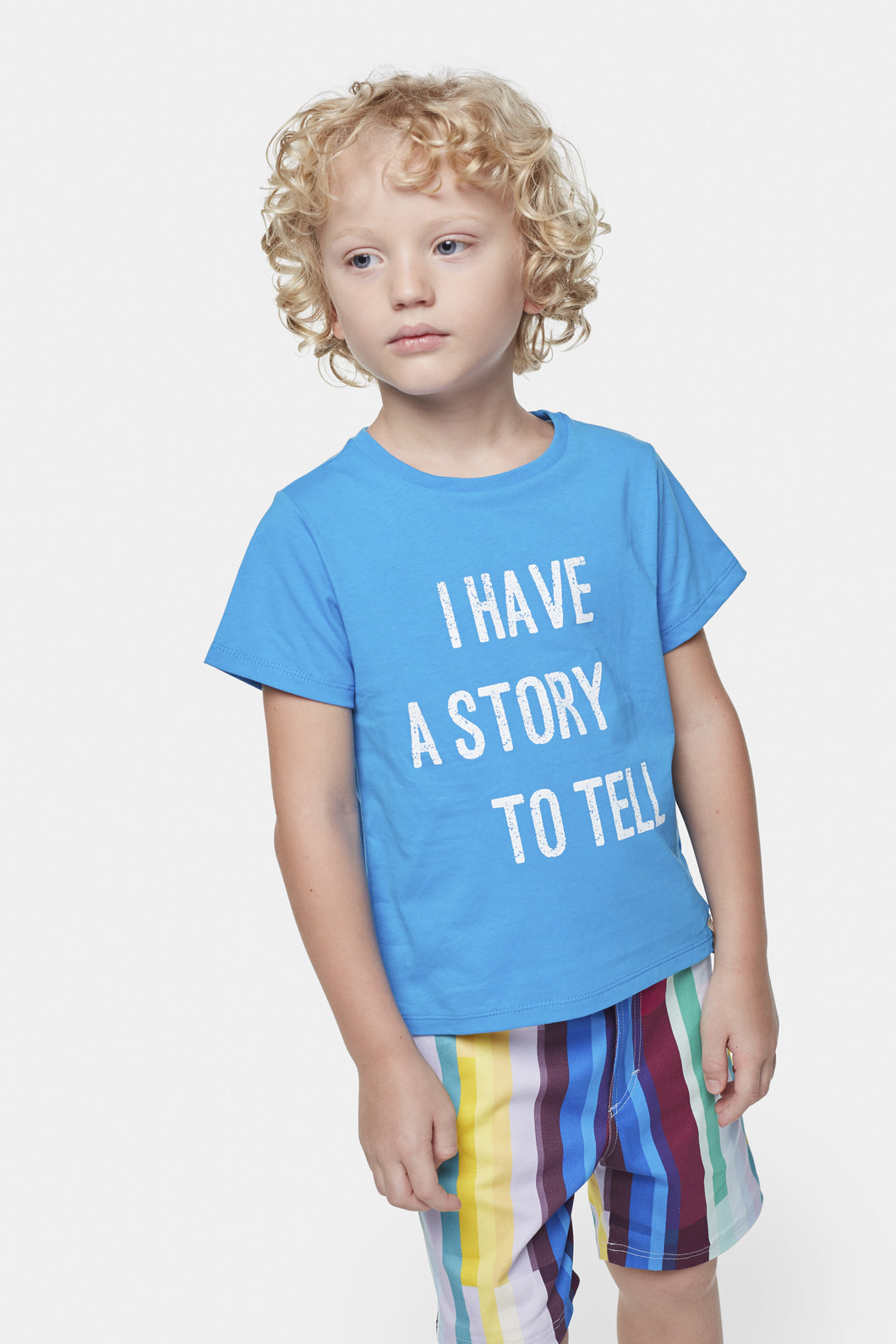 Coco Au Lait I Have a Story To Tell Blue T-Shirt T-Shirt Diva Blue