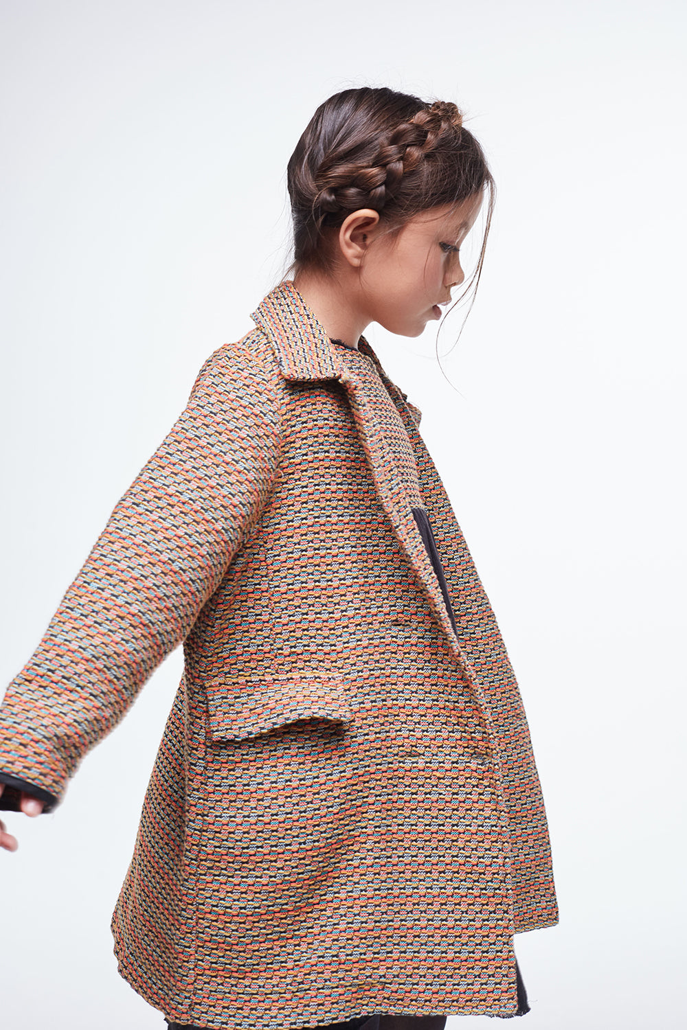 Load image into Gallery viewer, Coco Au Lait JACQUARD COAT Coat Multicolor