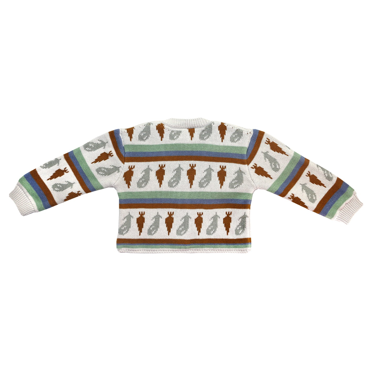 Load image into Gallery viewer, Coco Au Lait KNITTED CARDIGAN Sweater Multicolor Stripes
