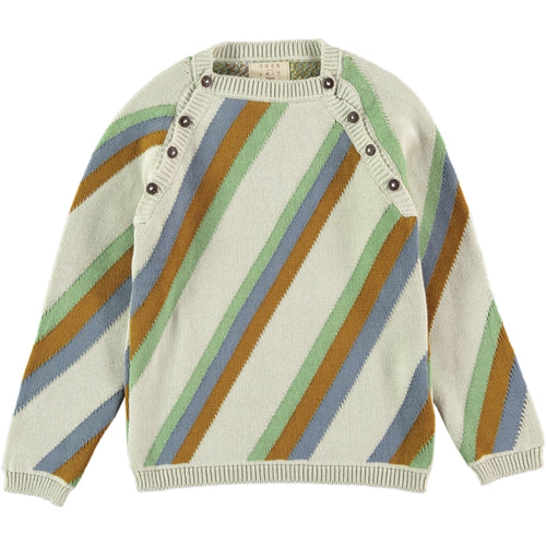 Coco Au Lait KNITTED STRIPED SWEATER Sweater Multicolor Stripes
