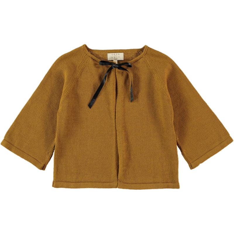 Load image into Gallery viewer, Coco Au Lait KNIT CROPPED JACKET Sweater Golden Brown