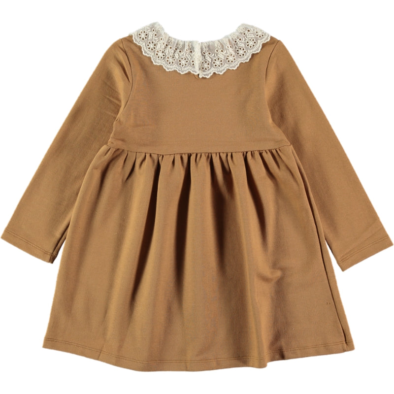 Load image into Gallery viewer, Coco Au Lait MUSTARD FRENCH TERRY DRESS Dress Golden Brown