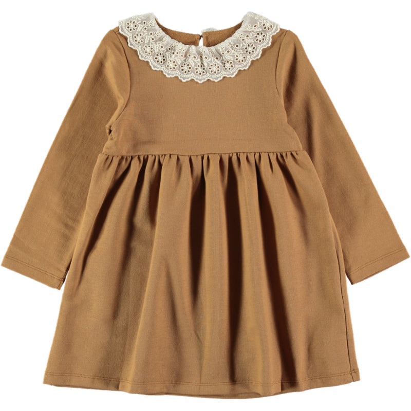 Coco Au Lait MUSTARD FRENCH TERRY DRESS Dress Golden Brown