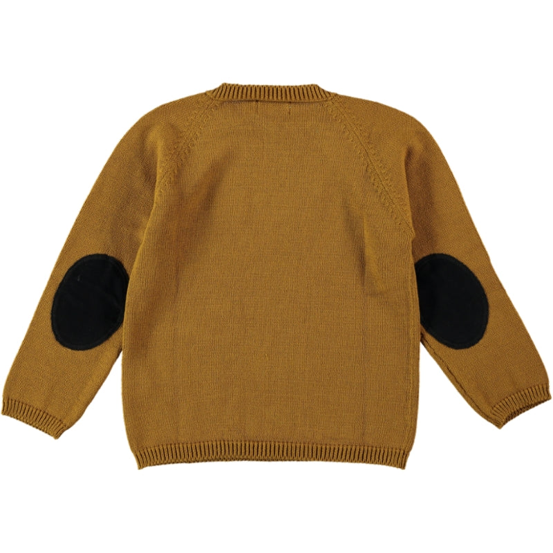 Load image into Gallery viewer, Coco Au Lait MUSTARD KNIT SWEATER Sweater Golden Brown