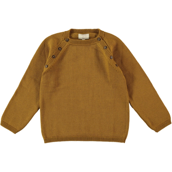 Coco Au Lait MUSTARD KNIT SWEATER Sweater Golden Brown