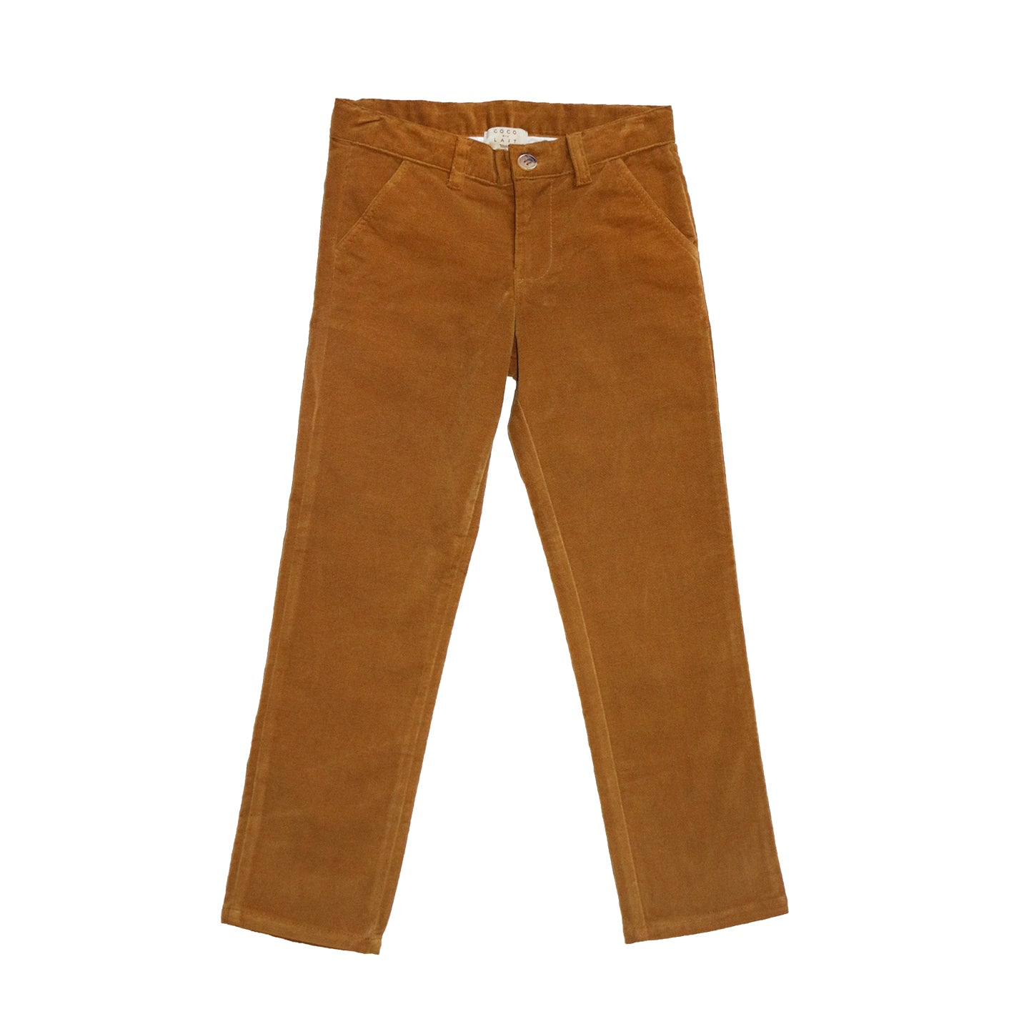 Load image into Gallery viewer, Coco Au Lait MUSTARD VELVETEEN TROUSERS Trousers Golden Brown