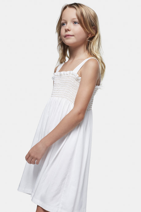 Coco Au Lait Mica Smock Dress Dress White