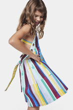Load image into Gallery viewer, Coco Au Lait Mirror Stripe Dress Dress Multicolor Stripes 2