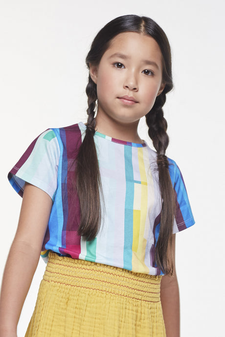 Coco Au Lait Mirror Stripe Tee T-Shirt Multicolor Stripes 2