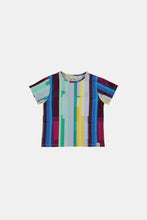Load image into Gallery viewer, Coco Au Lait Mirror Stripe Unisex T-Shirt T-Shirt Multicolor Stripes 2