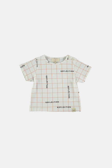 Coco Au Lait Notebook Grid Baby Tee T-Shirt White