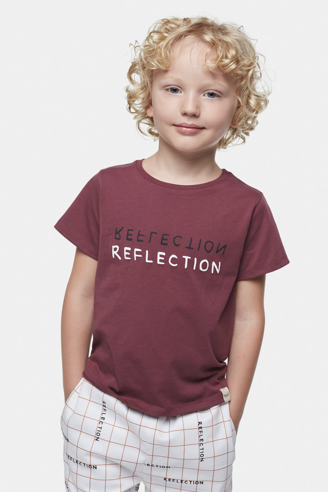 Coco Au Lait Reflection Baby T-Shirt T-Shirt Burgundy