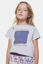Load image into Gallery viewer, Coco Au Lait Reflections Blue Square Baby T-shirt T-Shirt Evening Haze