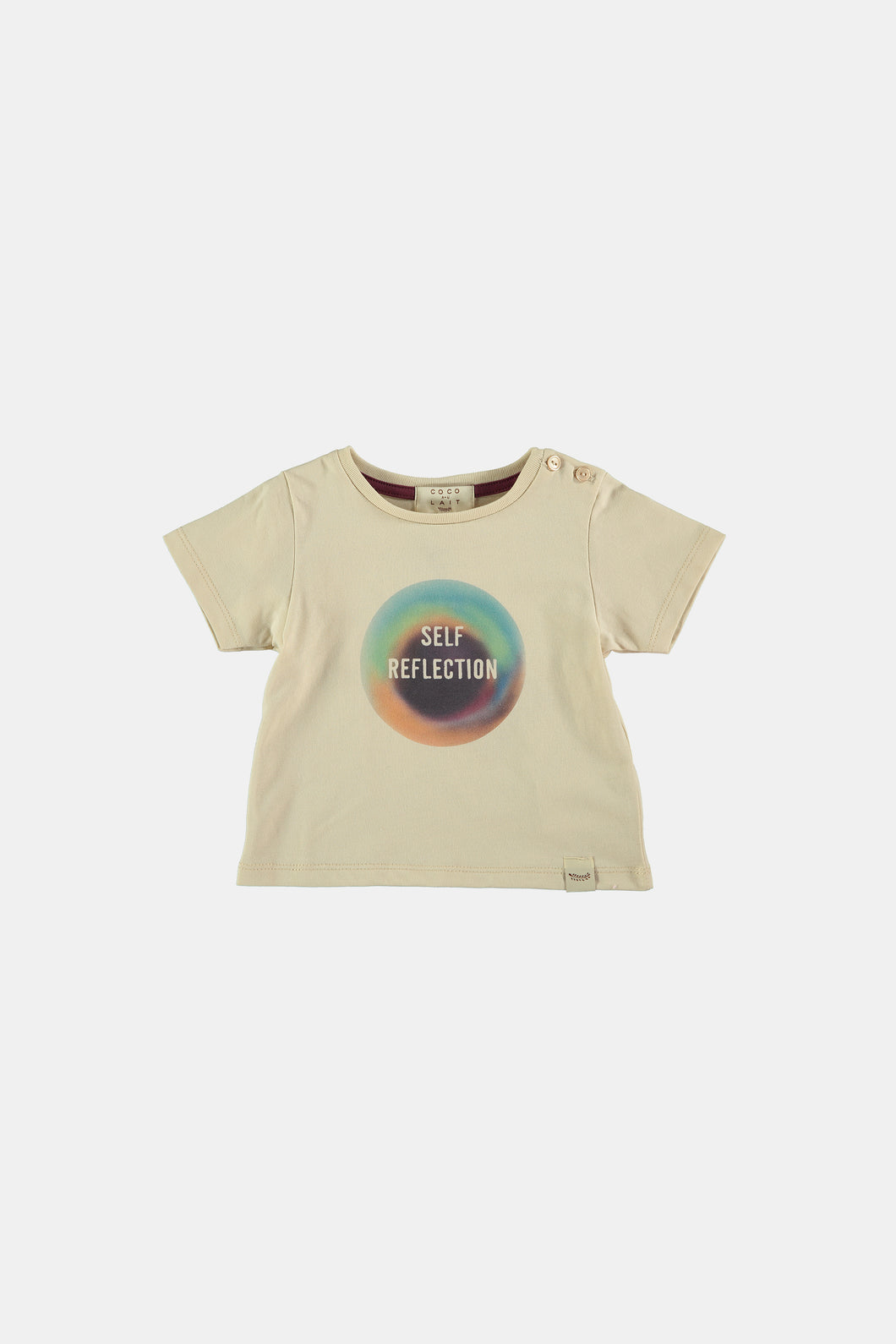 Coco Au Lait Self Reflection Baby Tee T-Shirt Bleached Sand