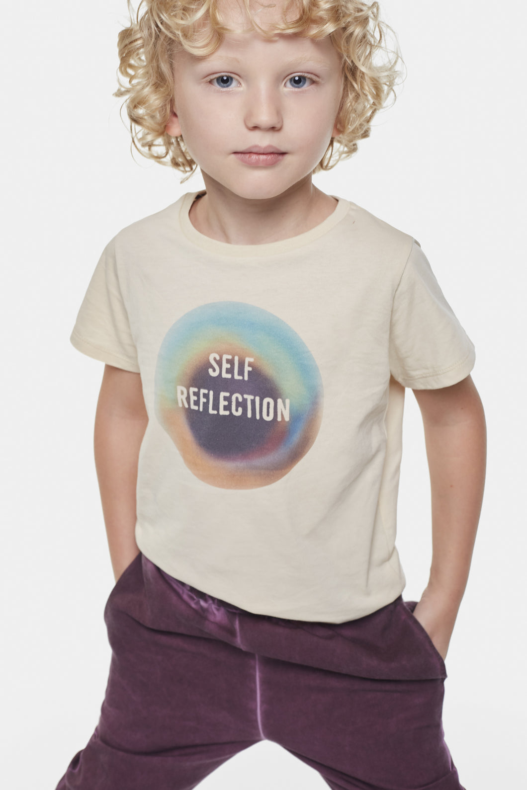 Coco Au Lait Self Reflection Mirror T-Shirt. T-Shirt Bleached Sand