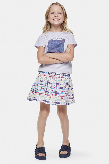 Coco Au Lait Smalls Reflections Skirt Skirt Multicolor Stripes 1