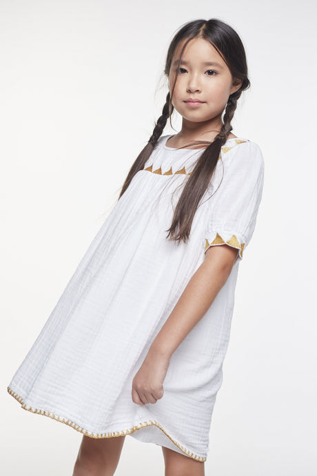 Coco Au Lait Suri Bambula Dress Dress White