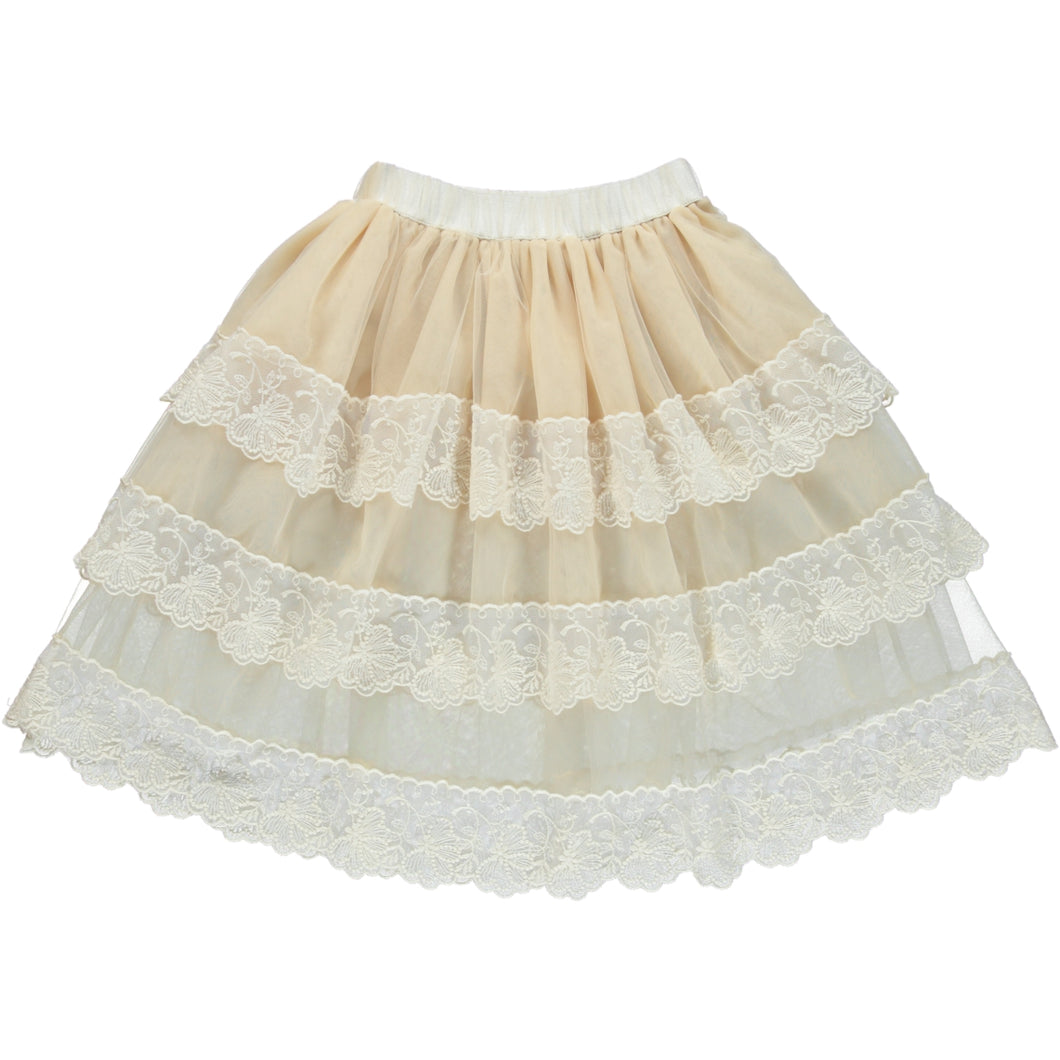 Coco Au Lait TULLE SKIRT Skirt Antique White