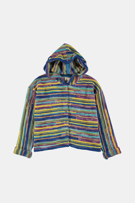 Coco Au Lait Unisex Baby All Over Stripe Cardigan Jacket Multicolor Stripes 1