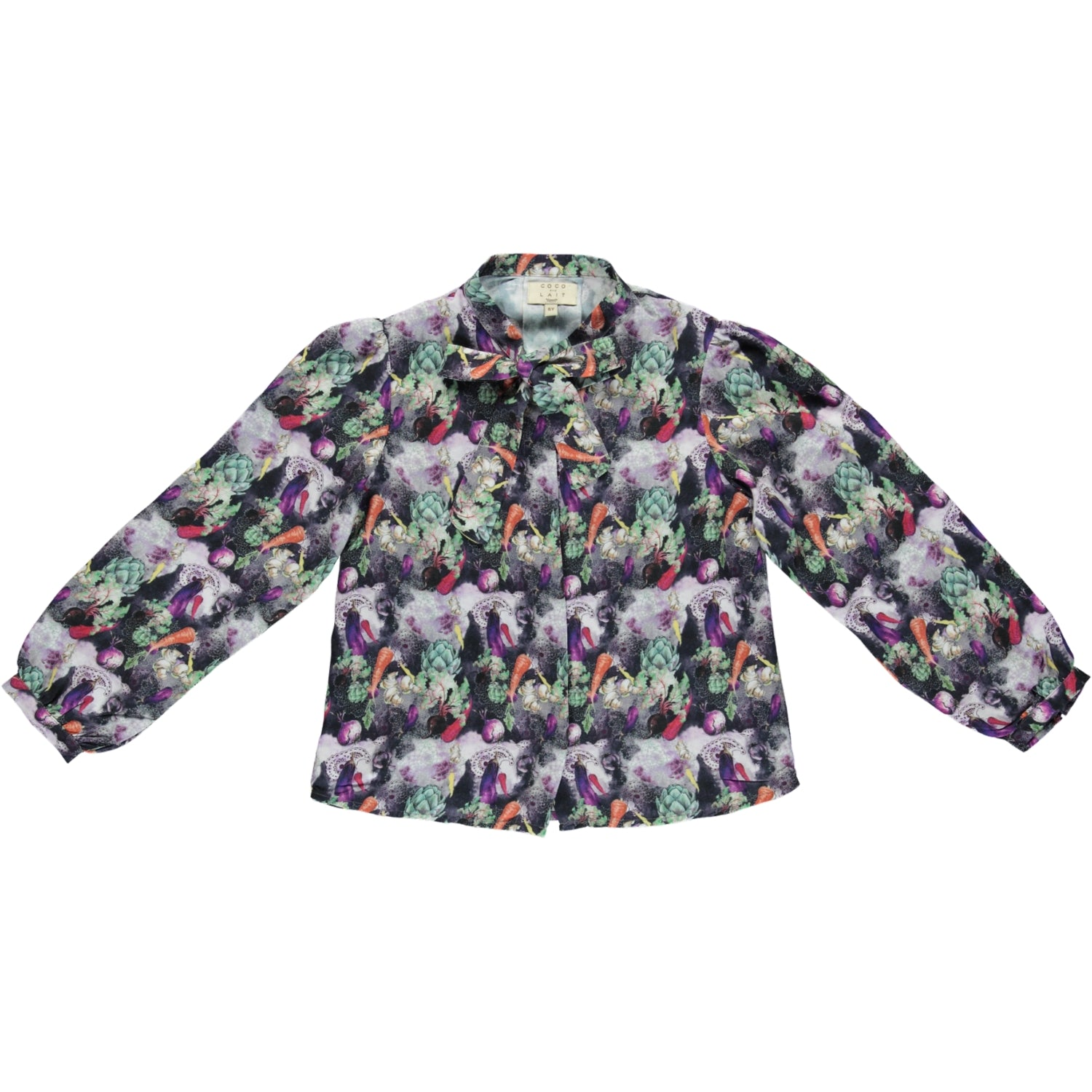 Load image into Gallery viewer, Coco Au Lait VEGETABLES BLOUSE Blouse Multicolor Veggies