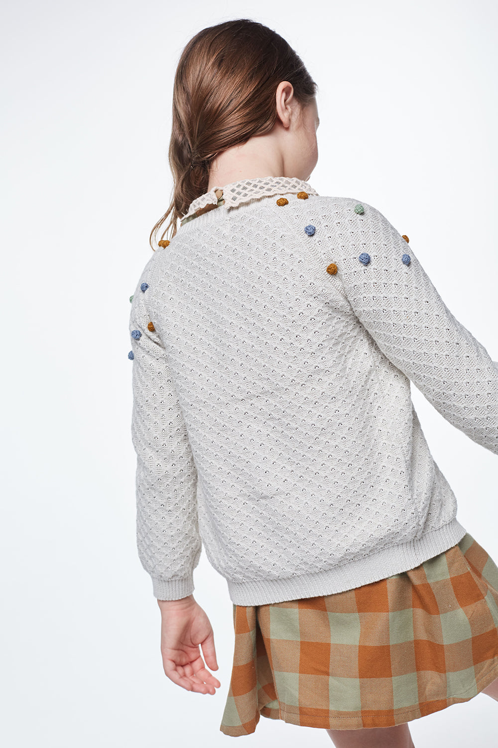 Load image into Gallery viewer, Coco Au Lait WHITE FANTASY CARDIGAN Sweater Off White