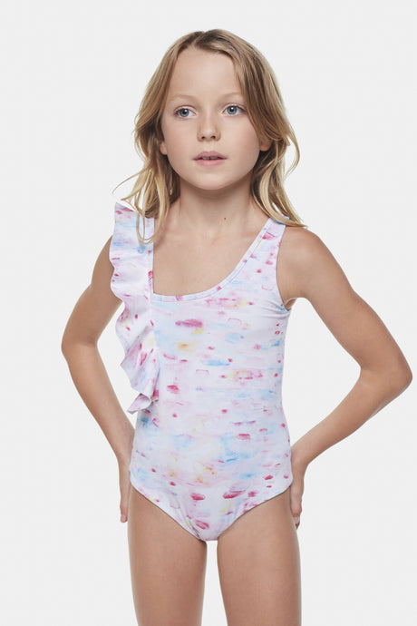 Coco Au Lait Water Color Swimsuit Swimming Watercolor