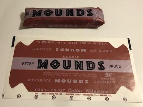 WW2 Peter Paul 1941 Mounds Wrapper