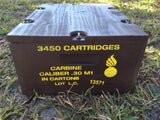 WW2 .30 Caliber Carbine Wooden Packing Crate