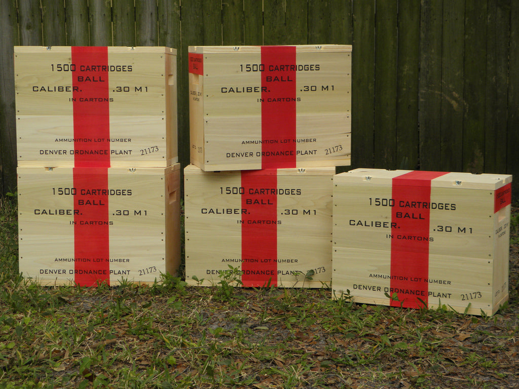 WW2 .30 Caliber M1 Large Wooden Packing Crate