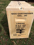 WW2 .30 Caliber Linked Large Packing Crate