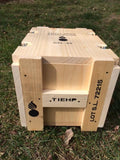 WW2 .30 Caliber Ammunition Small Wooden Packing Crate.
