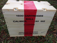 WW2 .30 Caliber M2 Large Wooden Packing Crate