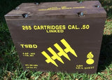 WW2 .50 Caliber Linked Large Wooden Packing Crate (Later Production)